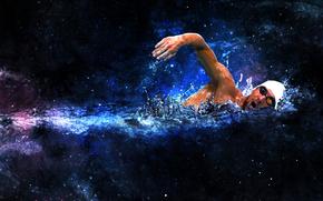 плавание, 3d, art