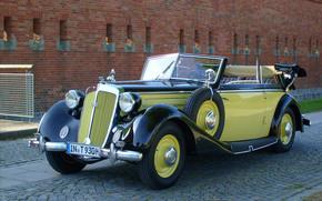 avtomobtl, Horch, cabriolet, company Auto Union, retro, Car
