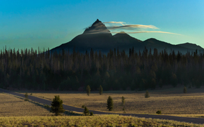 sunrise, Mount, Thielsen, Oregon, USA