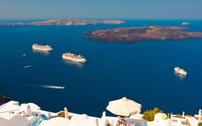 navi, Thira, Santorini, Grecia