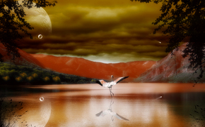 crane, dance zhurovlya, 3d, art