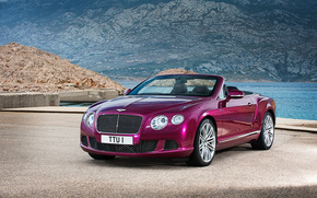 GT, Speed, Continental, convertible, Bentley, 2013