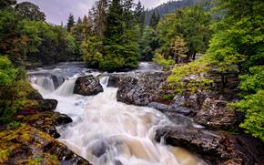 Cascata a Betws-y-Coed, Snowdonia, Galles, GB