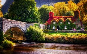 Llanrwst Tea Room, Conwy Valley, Snowdonia, Galles del nord, GB