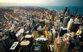 chicago, city, view from the top