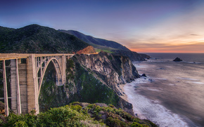 bixby bridge, Notleys Landing, California, USA
