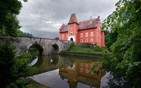 城堡, 捷克共和国, 城堡Chervena Lhota的, 桥