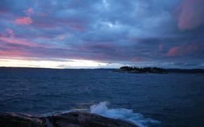 Онтарио, озеро, канада, закат, пейзаж