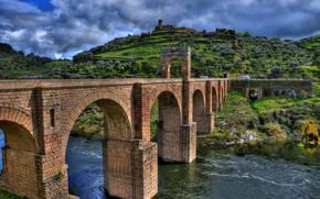 埃斯特雷马杜拉, 西班牙, 河, 桥, 景观