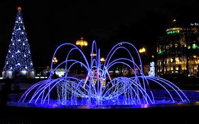 莫斯科, 夜景, 普希金广场。