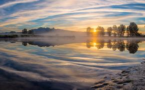 Pitt Meadows, British Columbia, Rio Alouette, Canad?, Reflexo Rio, panorama