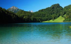 Germania fiume, Montagne, paesaggio, Schwangau, natura