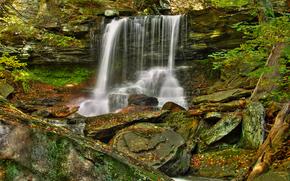 cascata, Rocce, natura