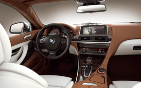 BMW 6er Grande Coupe Interior, máquina, Carro
