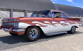 Carro, m?quina, 1959 Chevrolet Impala