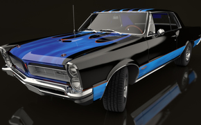 1965 Pontiac GTO, machine, Car
