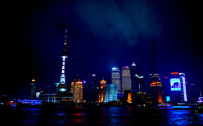 Shanghai, city, night