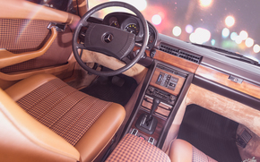 Mercedes-Benz 450SE, машина, руль