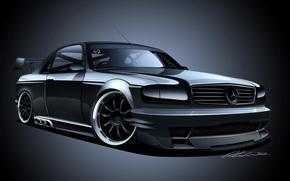 Mercedes 500 SEC, машина, авто
