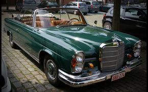 Mercedes-Benz 220 SE Cabriolet, machine, Car