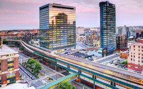 Queensboro Plaza, New York City, New York, NYC, USA, Queensboro Plaza, New York, USA, city, evening, metro, station, Skyscrapers, building, home, road