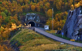 road, Raftsundet tunnel, Nordland Fylke, norway