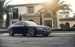 audi, S7, V8, VVSCV1, Matte Black Machined, Vossen Wheels, 2013