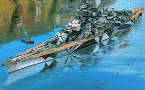 Tirpitz, Tirpitz, navire de guerre, navire de guerre, Kriegsmarine, Krigsmarine, Art