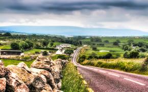 Costa Oeste de Irlanda, carretera, paisaje