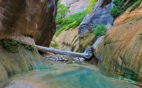 Slot Canyon, Parque Nacional Zion, paisaje