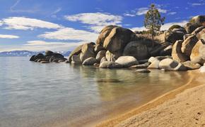 烟囱海滩, 塔霍湖东岸, 景观