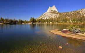 优胜美地国家公园, 湖, 山, 景观