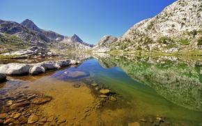 L'evoluzione del Lago, Parco Nazionale, Kings Canyon, paesaggio