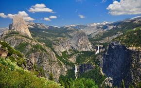 Vista dal sentiero panoramico, Yosemite National Park, California, USA