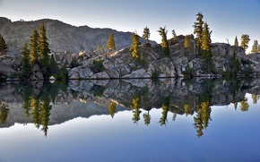 Parque Nacional de Yosemite, lago, paisaje