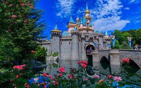 Sleeping Beauty Castle, Disneyland, Anaheim, California, USA