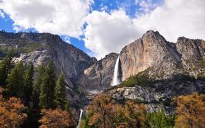 优胜美地瀑布, 优胜美地国家公园, 加州, 美国