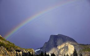 Радуга, Купол Половины, Йосемитский Национальный Парк