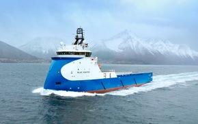 Blue Fighter, replenishment ship, offshore Blue Fighter