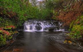 cascada, Alta Anglezarke cascada, Anglzarke, Lancashire, Inglaterra, GB