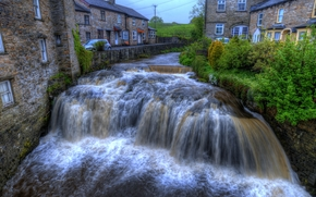 Waterfall, Hawes, North Yorkshire, england, GB
