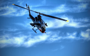Bell, AH-1, Cobra, attack, helicopter