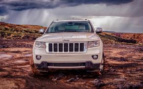 Jeep'n E, Jeep, grande, Cherokee, tempesta, pioggia, rocce, fango, Colorado, USA