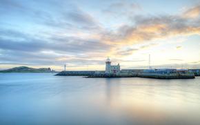 Porto di Howth, Dublino, Irlanda, faro