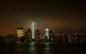 纽约, 城市, 夜