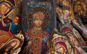 Orthodox icons, Saints, faces