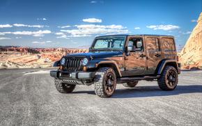 Jeep, Wrangler, Unlimited, desert, Nevada, USA, HDR