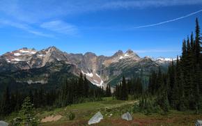 Plummer Mount, Sitting Bull Mount, Cloudy Pass, Glacier Peak Wilderness, Washington, USA