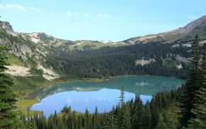Lyman Lake, Cloudy Pass, Sitting Bull Mountain, Arizona State Park, USA