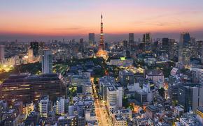 Japan, Tokyo Tower, город